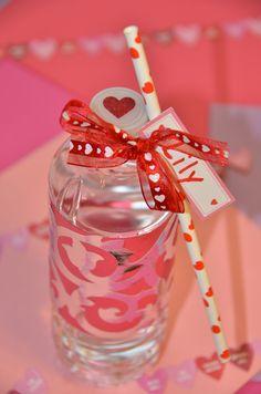 Valentine water bottle wraps.