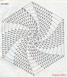 crochelinhasagulhas: Blusa branca com hexagonos em crochê