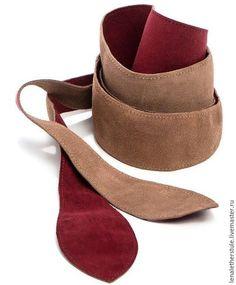 Пояса, ремни ручной работы. Ярмарка Мастеров - ручная работа. Купить Двусторонний кожаный / замшевый пояс-кушак. Handmade.