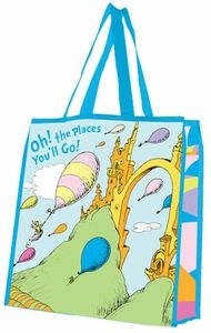 Dr. Seuss Oh The Places You'll Go Large Recycled Shopper Tote