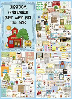 Classroom Organization Super Mega Pack – 76 files – pages – PDF file Your file includes 76 files all designed by Clever Classroom. Classroom Organisation, Teacher Organization, Classroom Management, Organizing, Kindergarten Classroom, School Classroom, Classroom Ideas, Beginning Of School, Pre School