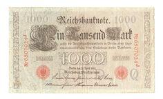 Reichsbanknote 21.04.1910 über 1000 Mark Reichsmark, Deutschland   eBay Ebay, Paper, Money, Germany