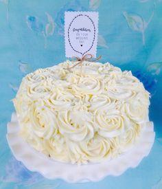 Rose Swirl Red Velvet Cake