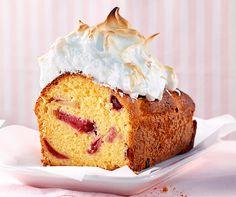 Pflaumen-Meringue-Cake  Ein Teig mit Cashew-Nüssen oder Mandeln, mit Zwetchgen oder Pflaumen und oben drauf eine Meringue-Haube!