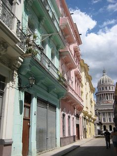 Calle Barcelona ,Havana, Cuba not in as bad shape as other areas! Places Around The World, Oh The Places You'll Go, Great Places, Places To Travel, Travel Destinations, Beautiful Places, Places To Visit, Around The Worlds, Jamaica