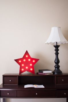 Vintage Inspired Marquee Light Small Star