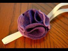 felt flower headband tutorial (How to) EASY