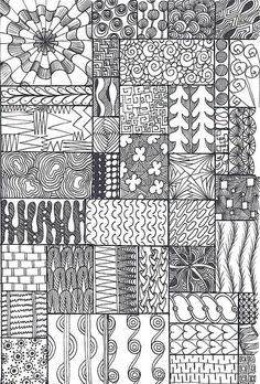 zentangle sampler by *carolion*, via Flickr: