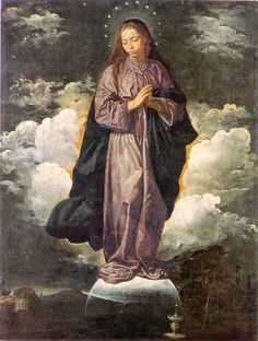 VELAZQUEZ, DIEGO, 1599-1660    IMMACULATE CONCEPTION, 1619  London, England :  National Gallery