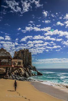Insisto en que ud. nade en el mar cerca de Baja California.