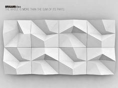 Origami tiles by Federico Fait - issuu Architecture Pliage, Architecture Origami, Tropical Architecture, Architecture Diagrams, Architecture Portfolio, Conception Paramétrique, Pavillion Design, Origami Paper Art, Wall Decor Design