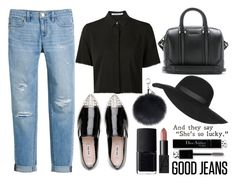 """""""Good Jeans"""" by mollie-simmonds ❤ liked on Polyvore featuring Miu Miu, White House Black Market, Alexander Wang, Givenchy, Topshop, Christian Dior and NARS Cosmetics"""