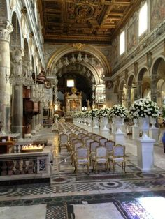 church wedding in Rome | #destinationwedding #church #italy