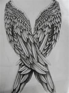 Angel Wing Drawings oooh i wanna draw this so bad now