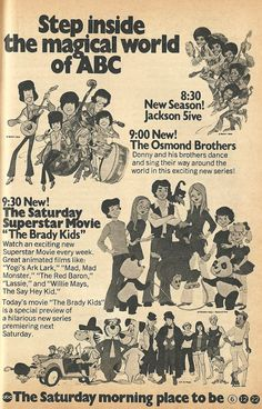 Saturday Mornings ABC-Style Back when I was cool...