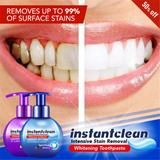 Get instant white teeth at your first brush! Our Intensive Stain Removal Whitening Toothpaste removes teeth stains, cavities, and bad breath effectively and Activated Charcoal Teeth Whitening, Natural Teeth Whitening, Whitening Kit, Charcoal Toothpaste, Instant White Teeth, Natural Stain Remover, Teeth Stain Remover, Flavored Toothpaste, Stained Teeth