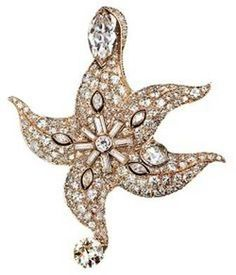 Diamond starfish brooch, 1939 PAUL FLATO 1900-1999 American