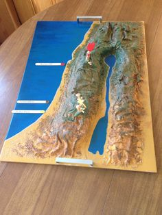 Land and Surface Map of Israel