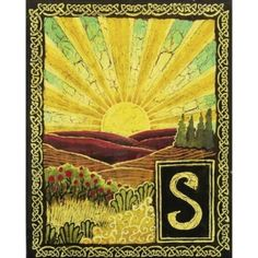 """S is for Sunrise,"" Emily Balivet, 2003. Part of the Medieval Alphabet."