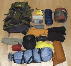 Ultra Light Backpacking List