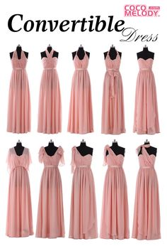 Cocomelody Convertible Dress, one dress, multiple ways to wear; Click to see how to wear one dress in different ways, 36 Colors available, you can surely find yours~