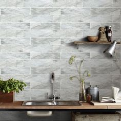Bianchi Stone Effect Wall Tile from Tile Mountain only per tile or per sqm. Order a free cut sample, dispatched today - receive your tiles tomorrow Ceramic Tile Floor Bathroom, Best Bathroom Tiles, Ceramic Wall Tiles, Brick Style Tiles, Brick Tiles Kitchen, Pink Tiles, Kitchen Worktop, Wall And Floor Tiles, Decorative Tile