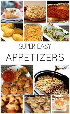 Super Easy Appetizer Ideas! These are perfect for New Years Eve.