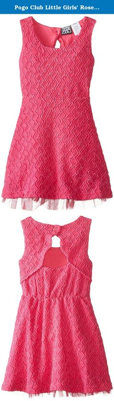 Pogo Club Little Girls' Rose, Bright Pink, 5/6. Pogo Club rose dress.