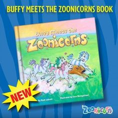 """""""Buffy Meets the Zoonicorns"""" It's a great kids story about encouragement, life balance, life lessons with lots of CUTENESS! Be sure to read Mom Does Reviews full review of their cuteness"""