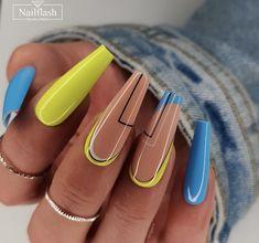 Aycrlic Nails, Chic Nails, Glam Nails, Stylish Nails, Beauty Nails, Cute Acrylic Nail Designs, Best Acrylic Nails, Nail Swag, Ongles Bling Bling