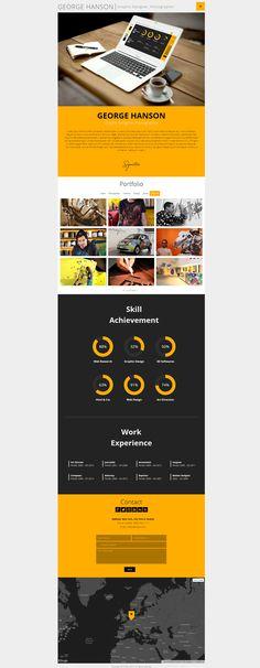 Profession - #OnePage CV #Responsive #Theme