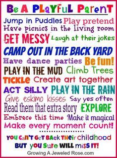 Be A Playful Parent!! #Family #Kids #Trusper #Tip