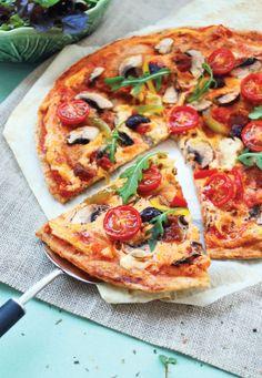 """Pizza Vegana do livro """"Cozinha Vegana para o dia a dia""""."""