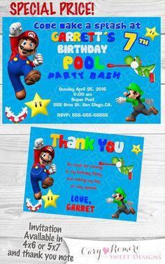 Mario And Luigi Pool Party Baking Cakes Pinterest