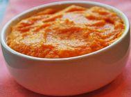 Purée de carottes à la dinde et lait maternel