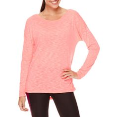 """FREE SHIPPING AVAILABLE! Buy Xersionâ""""¢ Studio Long-Sleeve Cross-Back Tee at JCPenney.com today and enjoy great savings."""