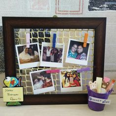 A frame for my sister to keep at her desk.