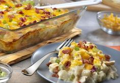 Frozen hash browns are the secret ingredient in this casserole that not only adds flavor but takes time off of the prep.  Simply layer hash browns and chicken and top with our Cream of Chicken soup combined with sour cream and cheese.  Let it bake until the fabulous flavor infuses the dish.  Since this recipe …
