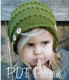 Knitting PATTERN-The Ashlyn Hat (Toddler, Child, Adult sizes)