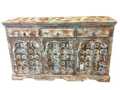 Antique Indian Sideboard Classic Furniture Buffet by MOGULGALLERY