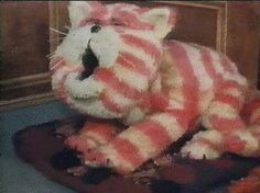Bagpuss - a saggy old cloth cat, but Emily loved him