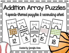 This math activity can be used in small groups or at a math center for quick and easy practice with repeated addition in the form of arrays! This 2nd grade Common Core skill is an essential building block for multiplication! Recording sheet included.Enjoy!!If you download, I appreciate your feedback! :)