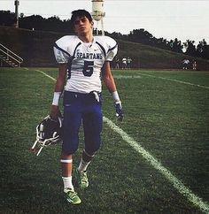 Hayes playing football