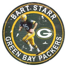 Green Bay Packers Bart Starr Wall Decor, Multicolor