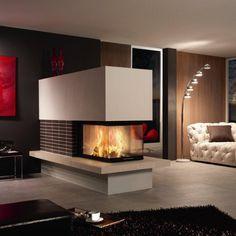 chemin e bois 3 faces foyer ferm. Black Bedroom Furniture Sets. Home Design Ideas
