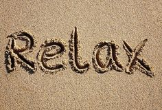 """""""Relax,"""" she wrote into the sand..."""