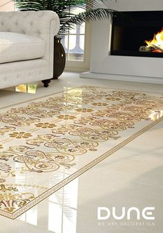 Rosette of classic inspiration reminiscent of the beautiful Greek fretwork for combining with Andria Travertino Rectificado. Interior S, Tile Floor, Neutral, Flooring, Beautiful, Rugs, Classic, Inspiration, Home Decor