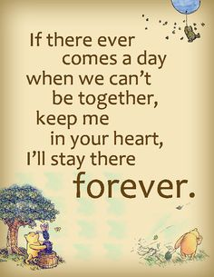 PRINTABLE Winnie The Pooh Forever Quote Poster.