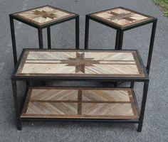 Reclaimed Wood Coffee Table w/ Welded Frame