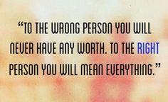 The right person...